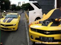Bumblebee Camaro Raffi Ahmad Ditilang, Adik: Kemarin yang Pakai Supir