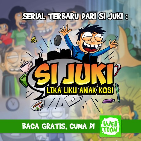 Komik Si Juki Lika Liku Anak Kos Hadir di Webtoon Indonesia