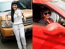 Pose Jupe di Range Rover, Roro Fitria Eksis dengan Ferrari di Polres
