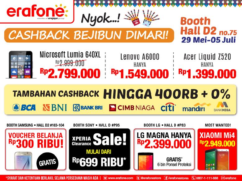 Murahnya Smartphone branded di Booth Erafone Jakarta Fair