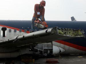 Ini Pesawat Batavia Air yang Dihancurkan di Soetta