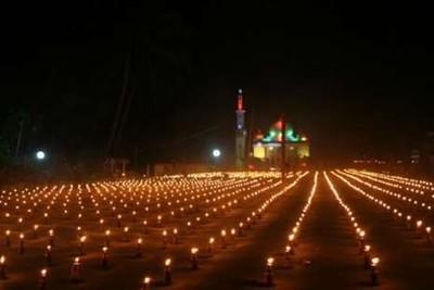 Cantiknya Festival Lebaran di Gorontalo dengan Lampu Minyak