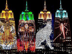 Menakjubkan! Video Mapping di Gedung Tertinggi New York