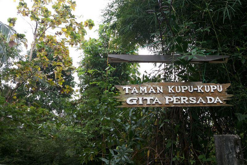 Taman Kupu-kupu Gita Persada bisa ditemukan di Jl Way Rahman, Kemiling, Bandar Lampung. Lokasinya masih termasuk dalam area kaki Gunung Betung yang sejuk dan asri (Kurnia/detikTravel)