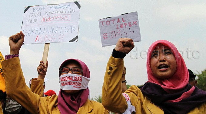 Demo Tolak Blok Mahakam Dikelola Asing