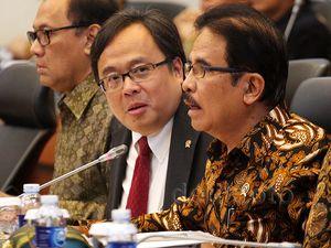 Bambang Brodjo, Agus Marto dan Sofyan Djalil Rapat dengan Banggar
