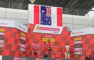 Bendera Indonesia Berkibar di Ferrari Challenge