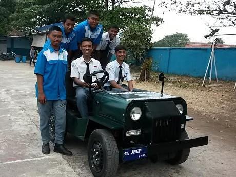 Hebat, Siswa SMK Ubah Yamaha V-Ixion jadi Mobil Jeep