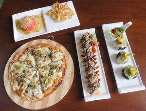 Osakamaru: Lezatnya Niku Karai Pizza dan Kuro Unagi Burger dengan Lelehan Keju