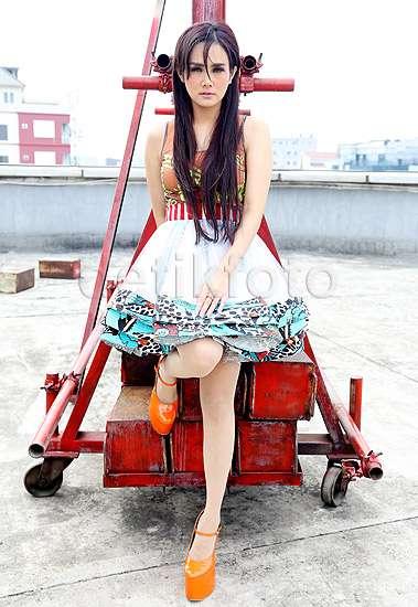 Pose Mulan Jameela di Rooftop detikcom