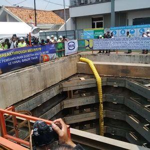 Menteri PU Cek Sodetan Ciliwung, 50% Terowongan Sudah Dibangun