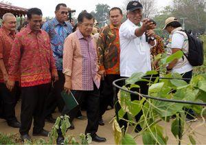 JK Hadiri Peringatan Hari Pangan di Palembang