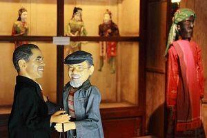 Presiden Obama di Museum Topeng & Wayang Setia Darma di Ubud