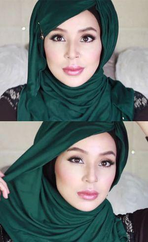Tutorial Hijab Belah Samping ala Blogger Amerika, Fatiha