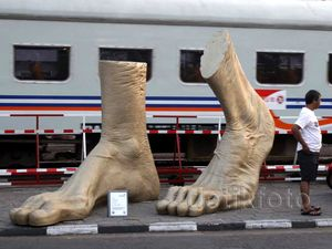 Patung-patung Unik Hiasi Jalanan di Yogyakarta