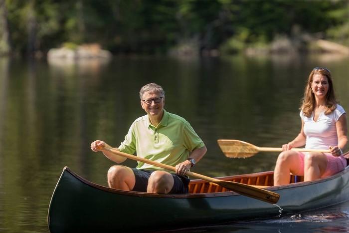 Bill Gates & istrinya Melinda (facebook)