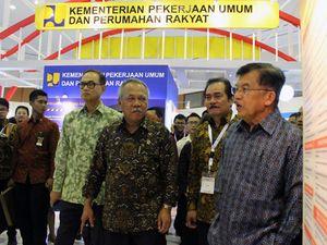 JK Hadiri Pameran Konstruksi Indonesia 2015