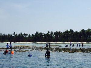 Rini Soemarno Paksa Bos BUMN Ikut Snorkeling di Karimun Jawa