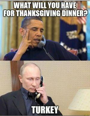 Meme Panaskan Hubungan Turki-Rusia