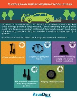 5 Kebiasaan Buruk yang Merusak Mobil