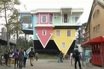 Unik! Ada Rumah Terbalik di Taiwan