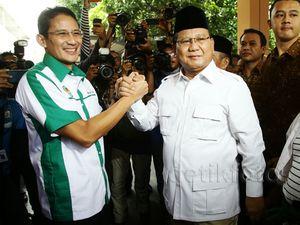 Prabowo Lantik Sandiaga Uno Jadi Ketua APPSI
