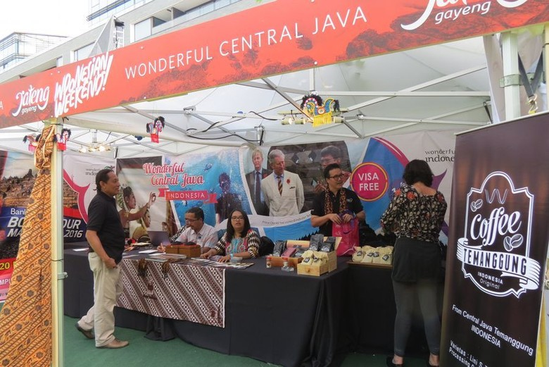 Booth Jawa Tengah di Festival Indonesian Weekend (Fitraya/detikTravel)