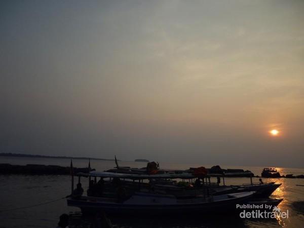 Sunset di Pulau Bulat