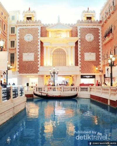 Tak Bisa Bedakan Siang atau Malam di The Venetian, Macau