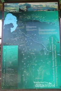 Peta Jalur Pendakian Gunung Renjani