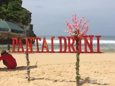 Main Kano di Pantai Drini Gunungkidul, Asyik Banget!