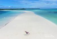 2 Km dari tepi pantai,dan semuanya hanya pasir putih dan birunya laut