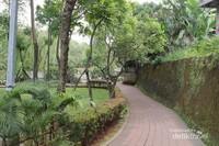 Taman ini memiliki lintasan jogging yang tertata rapi