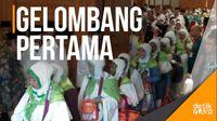 386 Jemaah Calon Haji Kloter Pertama Embarkasi Jakarta Diberangkatkan