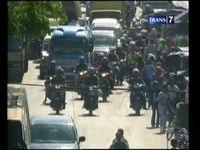 Cegah Kepadatan Polisi Berlakukan Pengalihan Arus