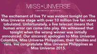 Pihak Penyelenggara Miss Universe Minta Maaf