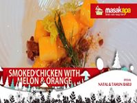 Smoked Chicken with Melon and Orange