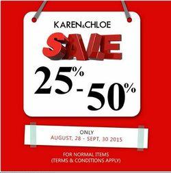 Karen & Chloe Sale 25% - 50%