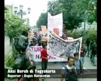 Aksi Buruh di Yogyakarta