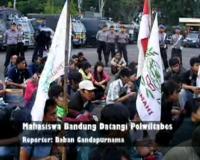 Mahasiswa Bandung Datangi Polwiltabes