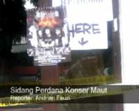 Sidang Perdana Konser Maut di Bandung