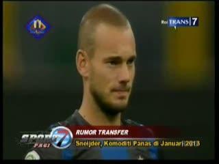 Sneijder, Komoditi Panas Januari 2013