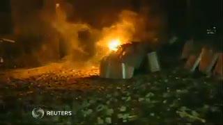 Rusuh Ukraina, Pasukan Anti Huru Hara Dihajar Bom Molotov