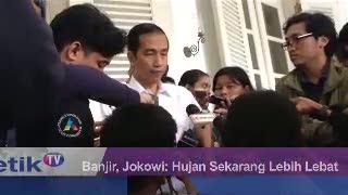 Banjir, Jokowi: Hujan Sekarang Lebih Lebat