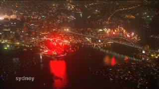 Meriahnya Pesta Kembang Api di Australia