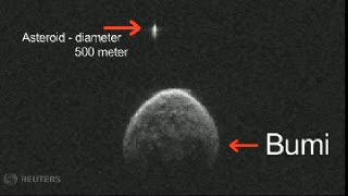 Penampakan Asteroid Melintasi Bumi