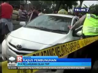 Polisi Lakukan Olah TKP Pembunuhan Sopir Taksi