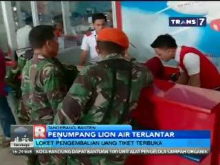 Loket Pengembalian Uang Tiket Lion Air Dipadati Calon Penumpang
