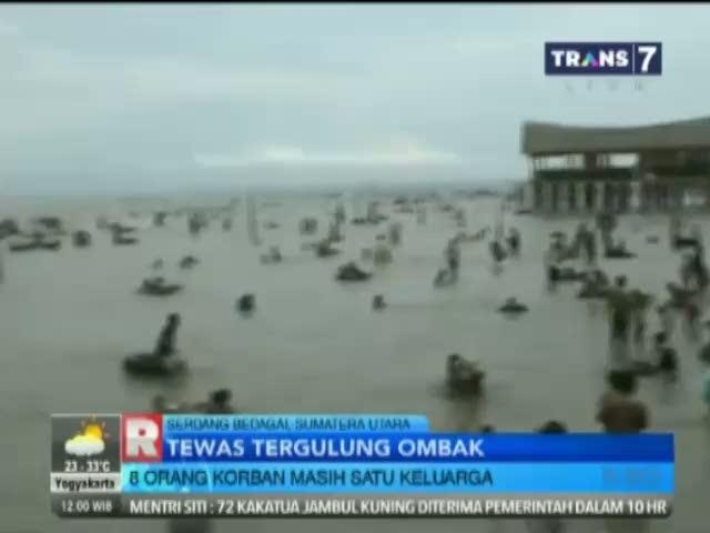 Tergulung Ombak, 8 Orang Tewas di Pantai Serdang Bedagai