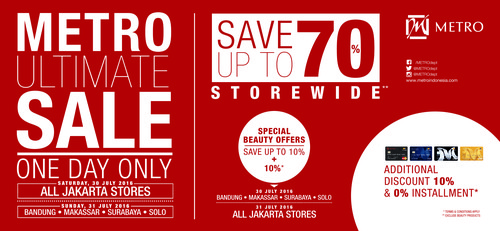Metro Ultimate Sale Up to 70%